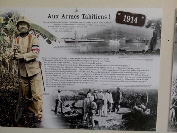 Exposition « Poilus Tahitiens 1914-1918 »